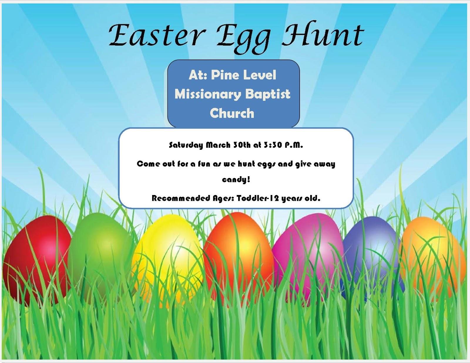 Easter Egg Hunt Flyers Community easter egg hunt