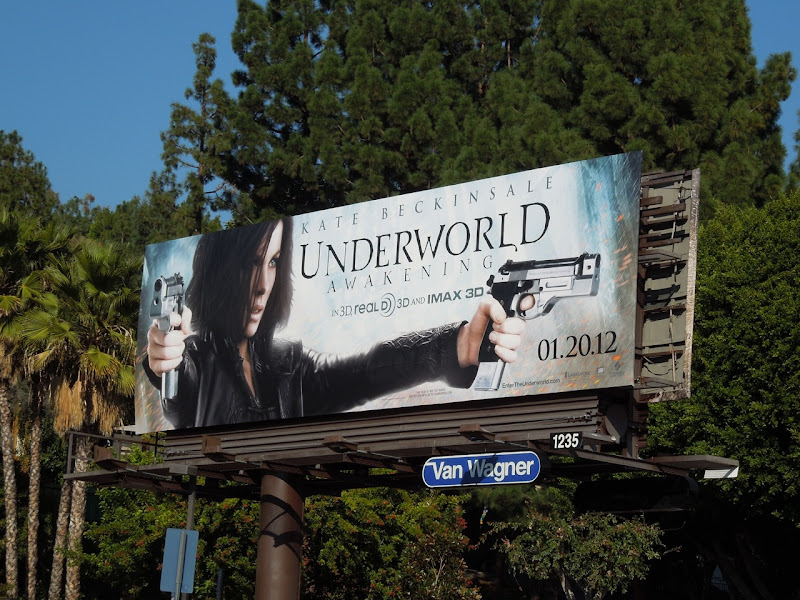 Underworld Awakening movie billboard