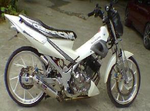 satria fu body air brush modif racing drag look 1 Kumpulan Foto Gambar Modifikasi Satria FU