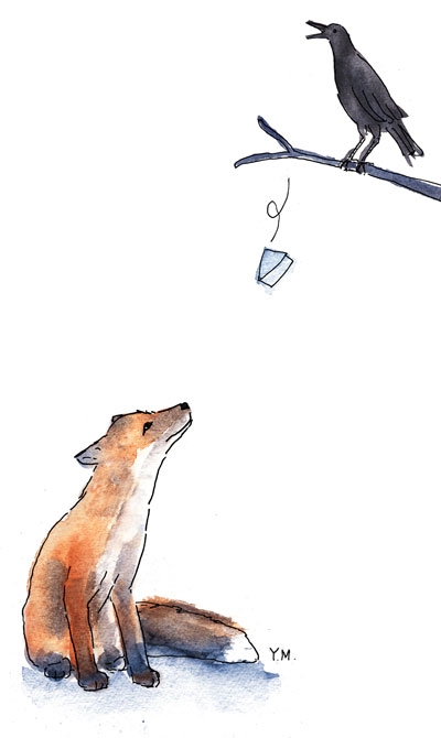 Le Renard et le Corbeau par Yukié Matsushita
