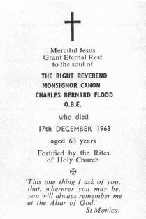 Death notice for Charles Bernard Flood From Seafaring Bishops