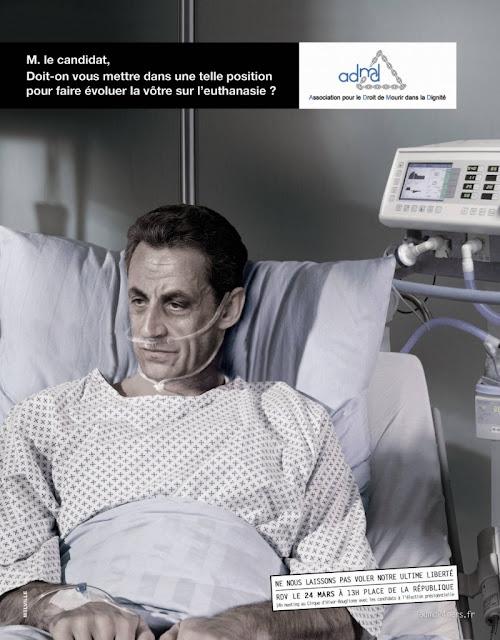 ADMD - Nicolas Sarkozy - Doit-on vous mettre dans une telle position pour faire évoluer la vôtre sur l'euthanasie?