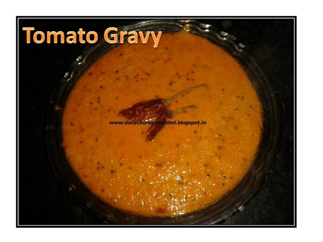 Tomato gravy for Dosa/Idly