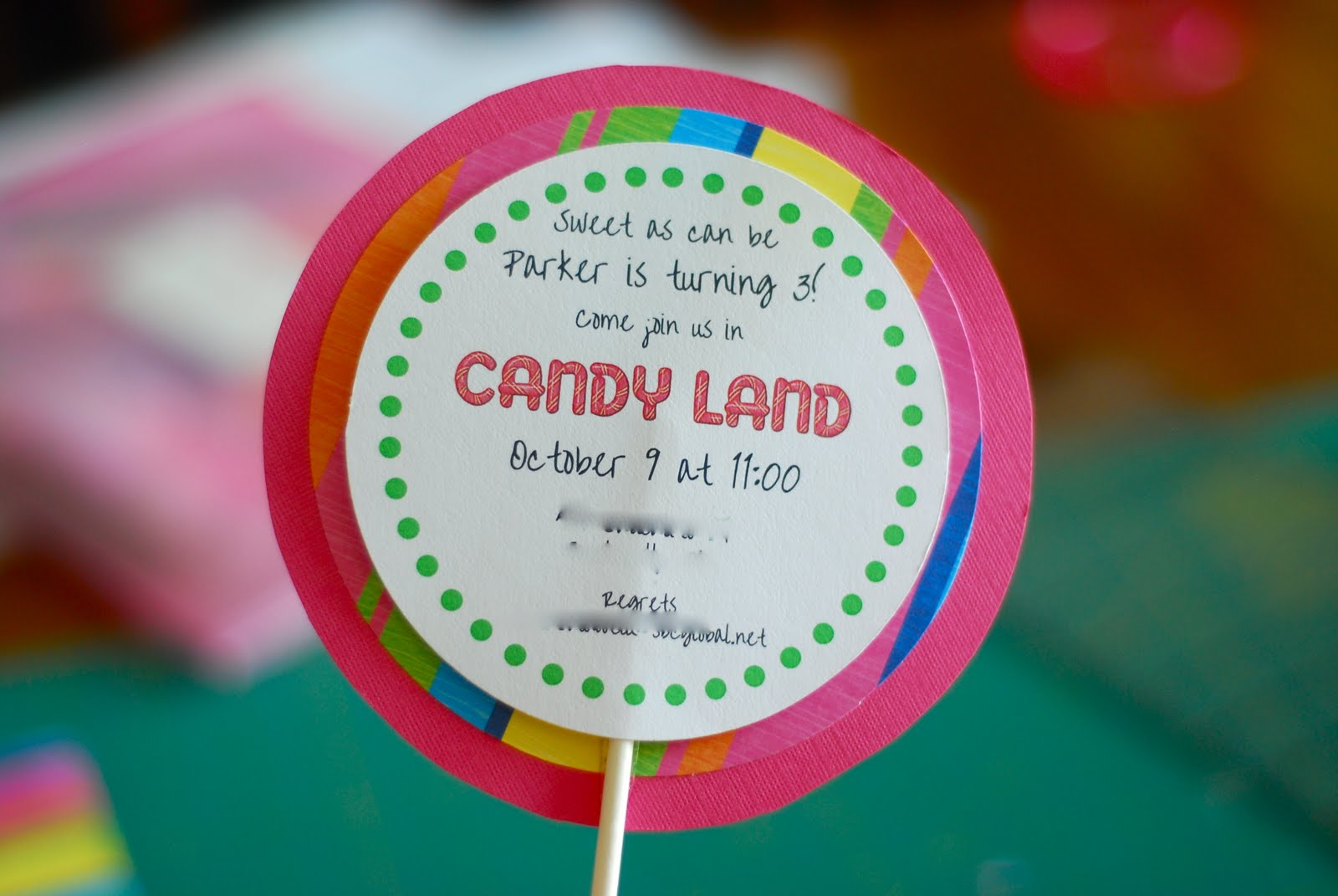 how to make lollipop party invitations