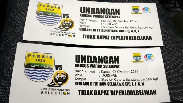 Persib vs Malaysia Selection, Warga Sekitar Dapat Tiket Khusus