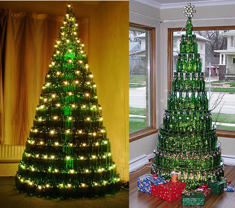 How to recycle recycled towering christmas trees - Arbol de navidad decorado ...