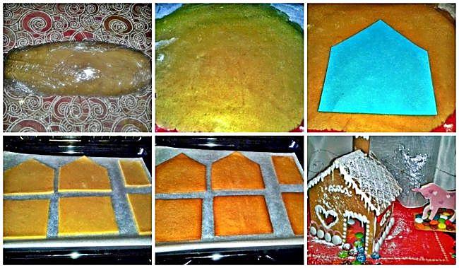 Preparación de la casita de pan de jengibre