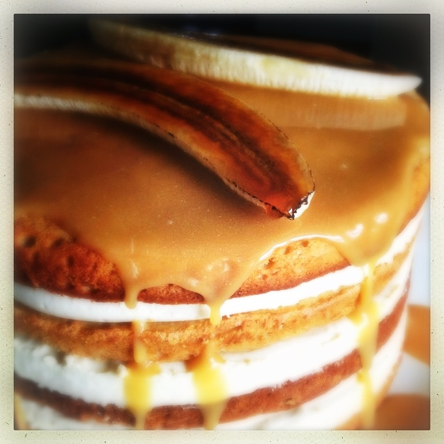 Banana Bread Caramel Cream Layer Cake (AKA the angry banana cake) AND ...