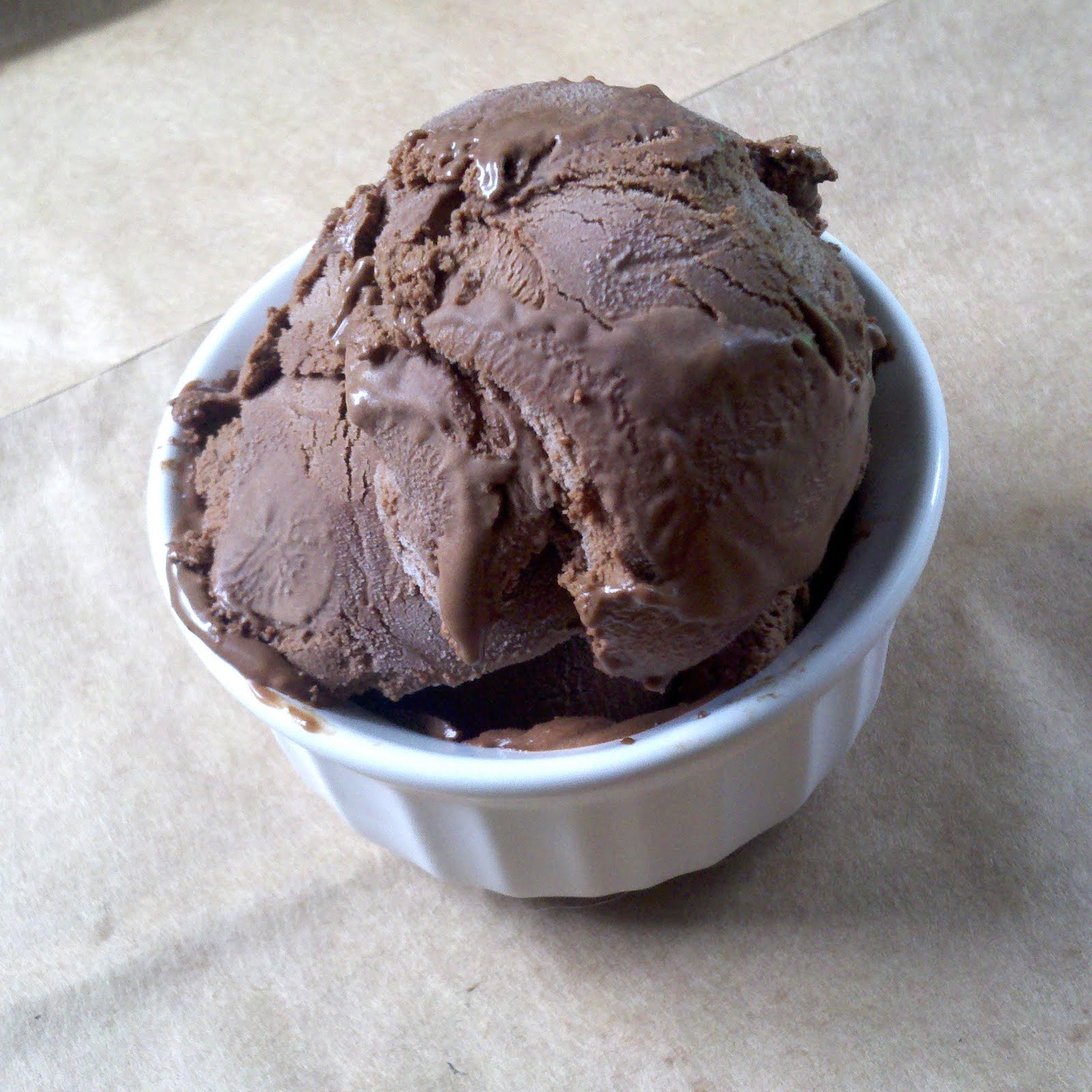Spicy chocolate ice cream