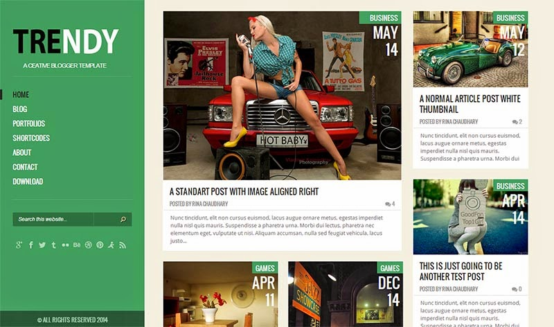 Trendy Green Version