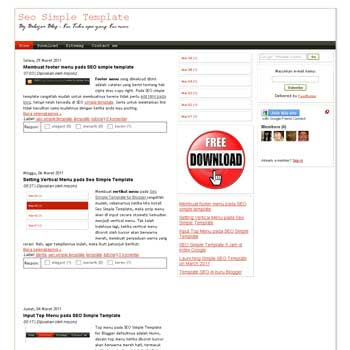 Seo Simple blogger template with 3 column blogger template. 3 column blogspot template