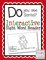 """Do you see Santa?"" interactive practice for sight words, only $1.00"