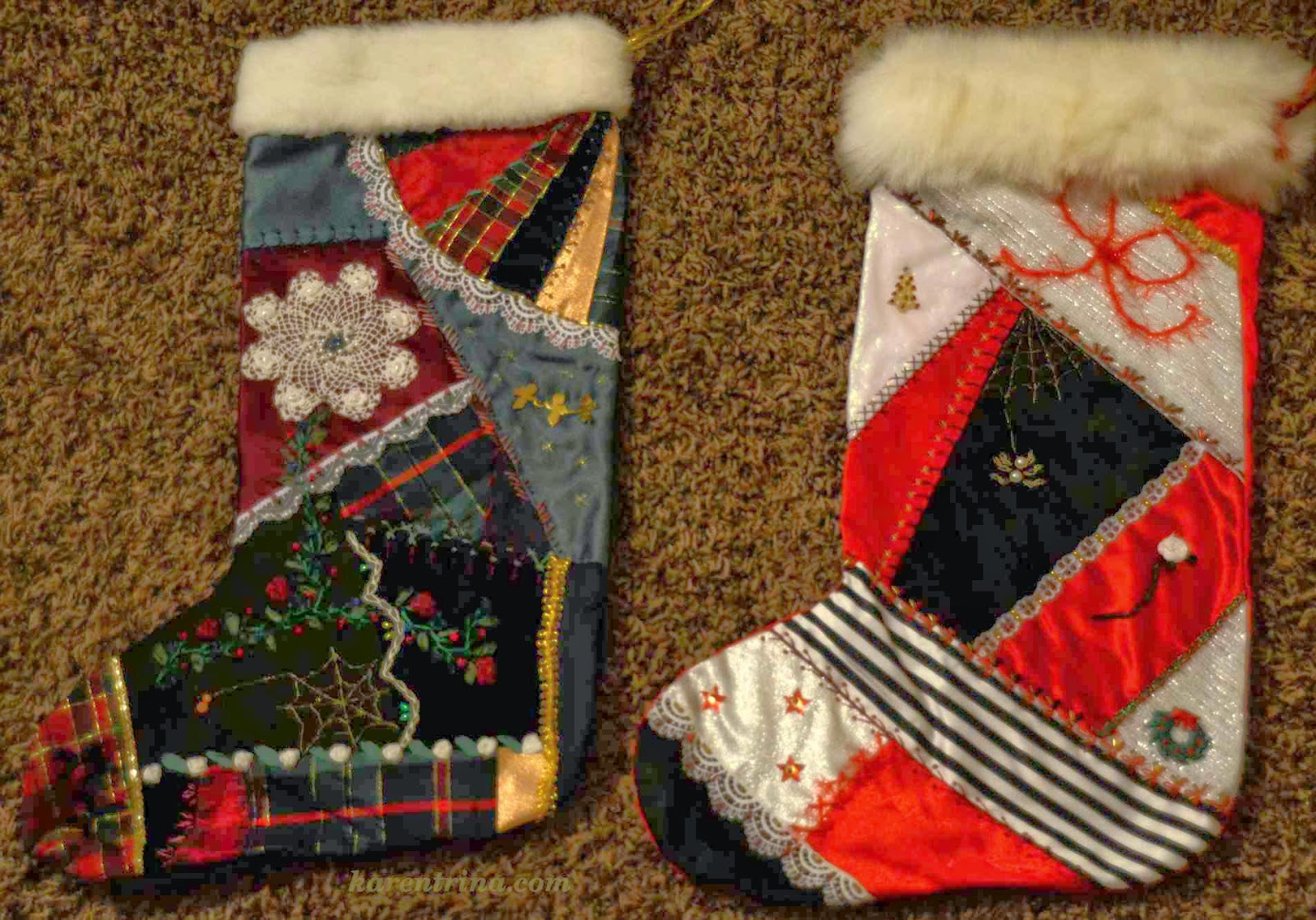 crazy quilt stockings
