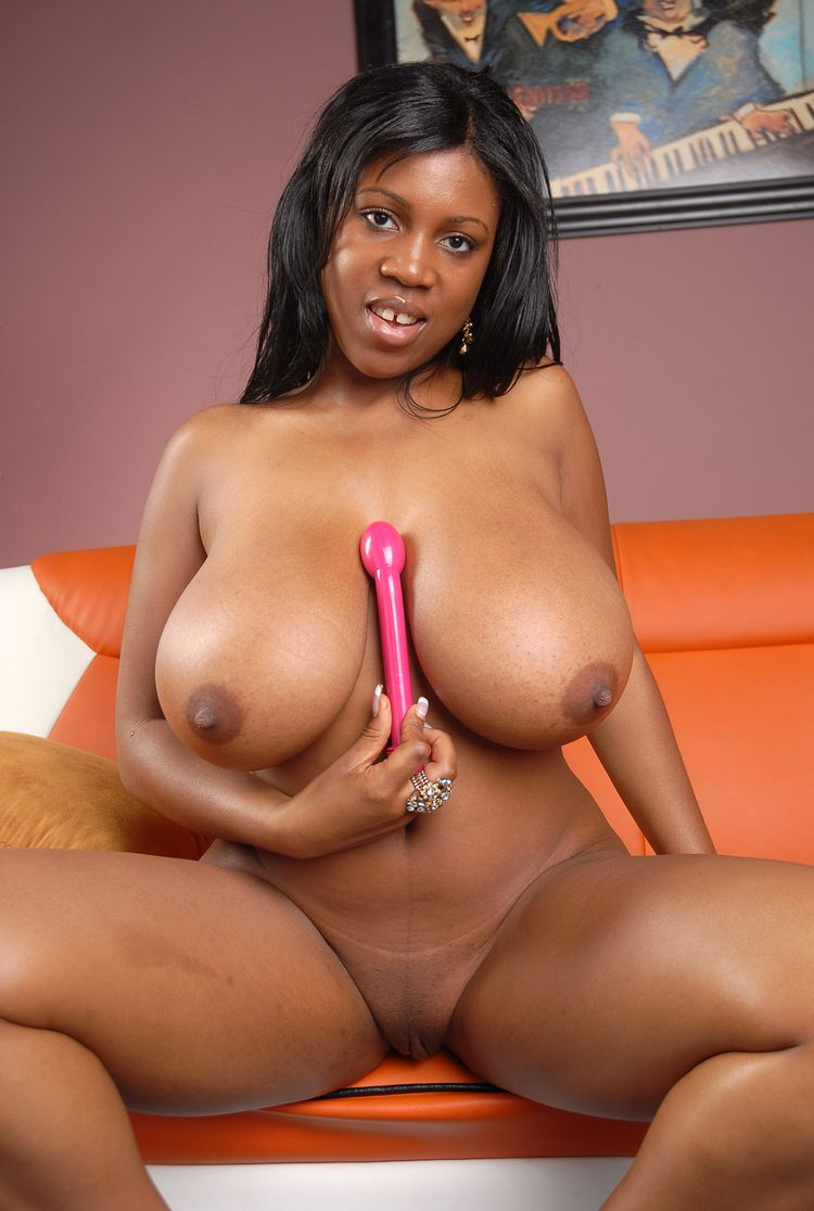 Big black boobs natural