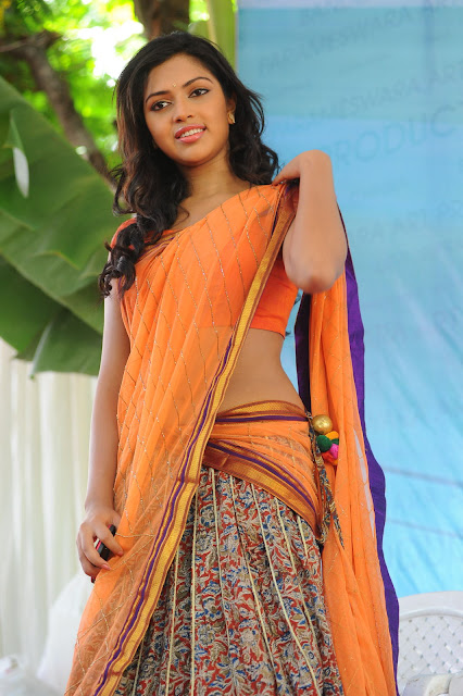 Actress Amala Paul Half Saree Photos