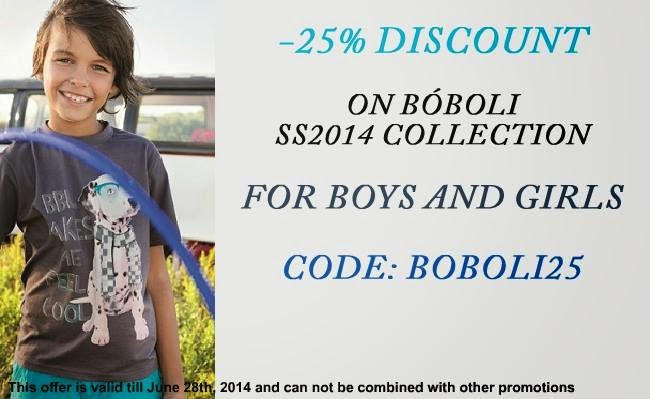 25% discount on all Boboli SS 2014 clothes for boys and girls