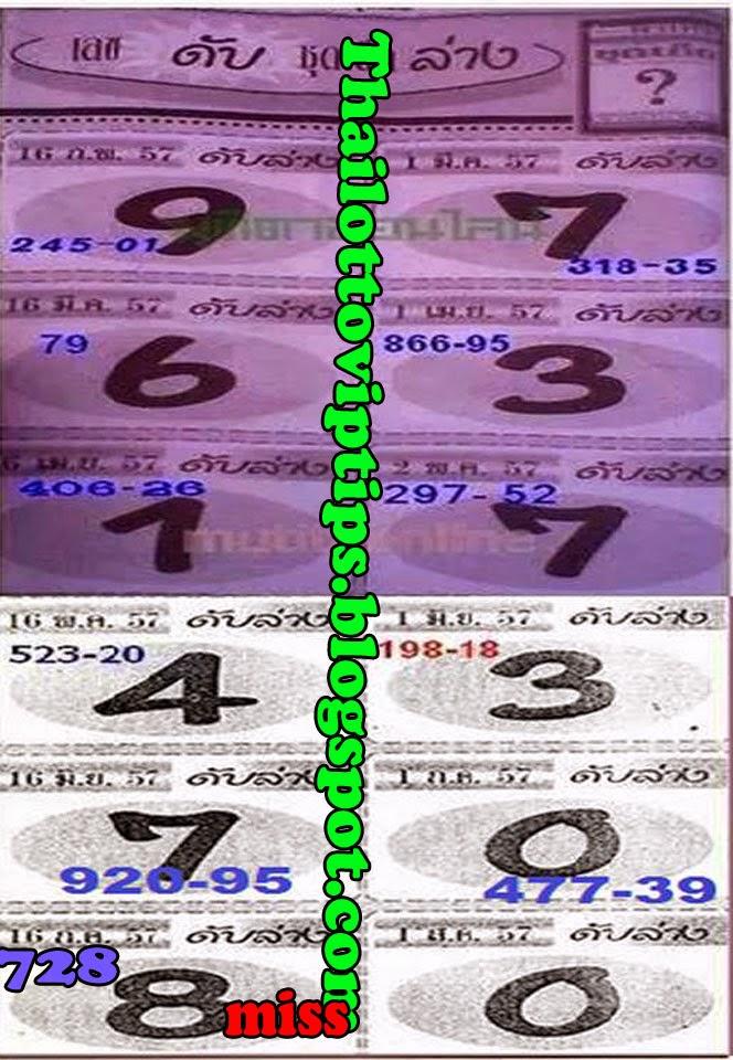 Thai lotto 3up Cut Digit 01-08-2014