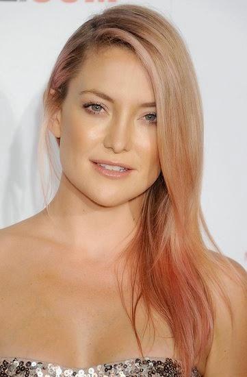Rose Gold Highlights In Blonde Hair   Dark Brown Hairs