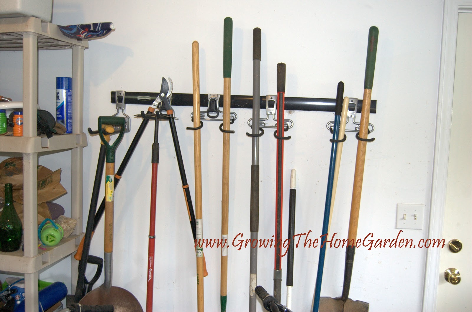 Organizing a gardeners garage growing the home garden for Gardening tools brisbane