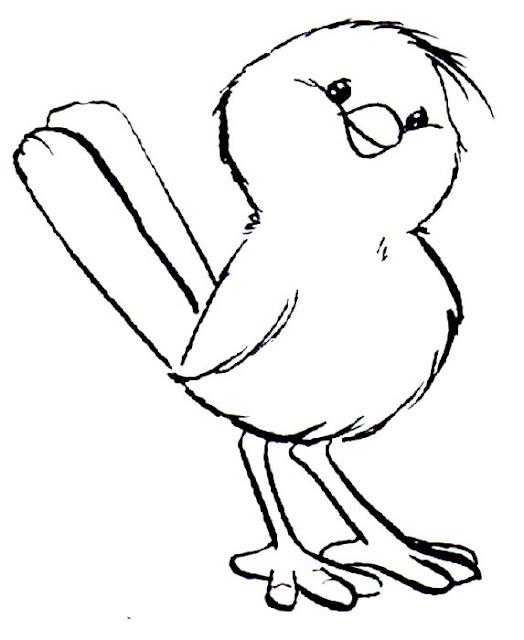 Desenho Pássaro fofo para colorir