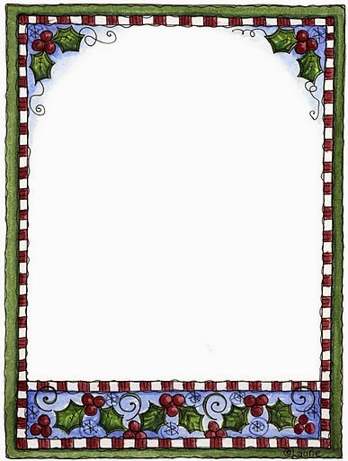 photograph regarding Free Printable Borders titled Holly Free of charge Printable Borders and Frames for Xmas. - Oh