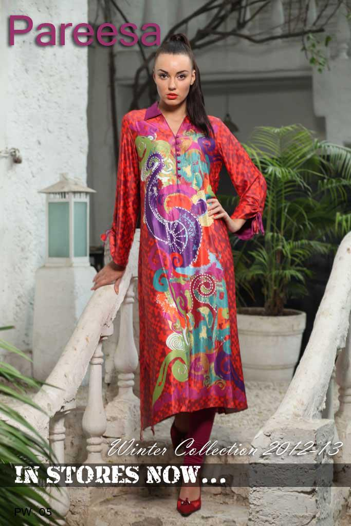 Current Fashion In Pakistan Latest Pareesa Spring