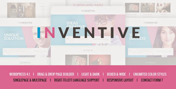 Inventive - Single & Multipage WordPress Theme