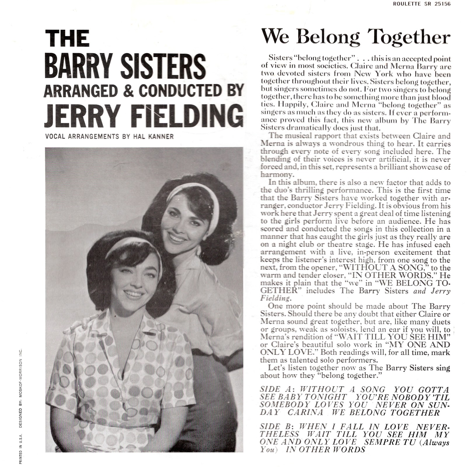 The Barry Sisters - We Belong Together