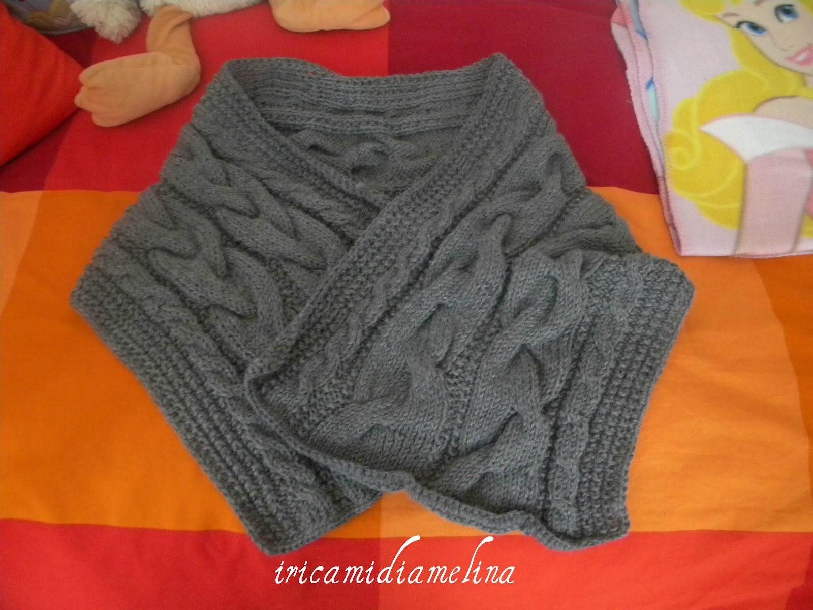 iricamidiamelina: sciarpa di lana ai ferri