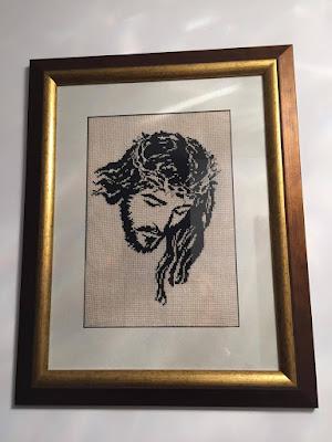 Obraz wykonany haftem krzyżykowym/ Picture made cross stitch