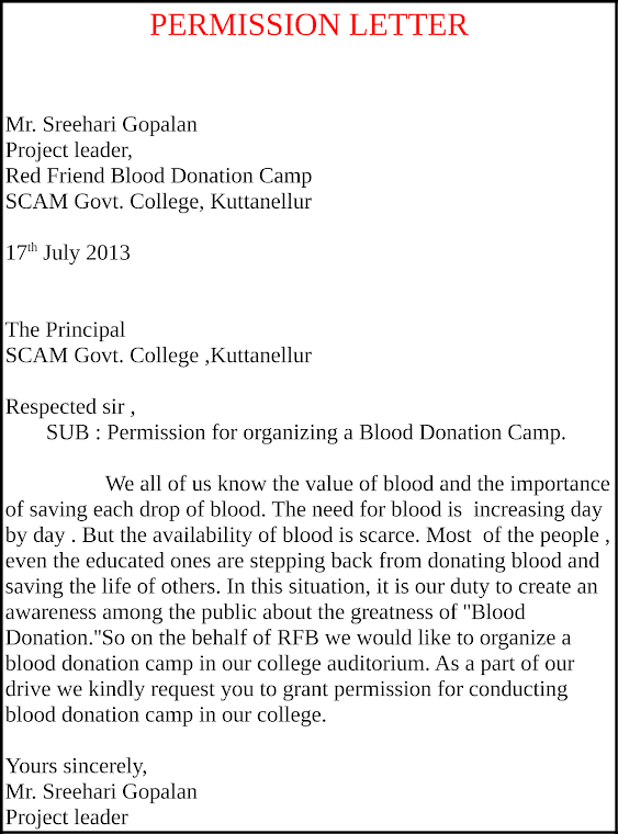 RED FRIEND BLOOD DONATION CAMP Project Report