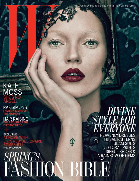 Kate Moss, le bien et le mal, Magazine W, Steven Klein