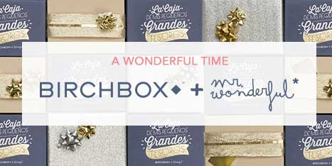 Birchbox y Mister Wonderful logos