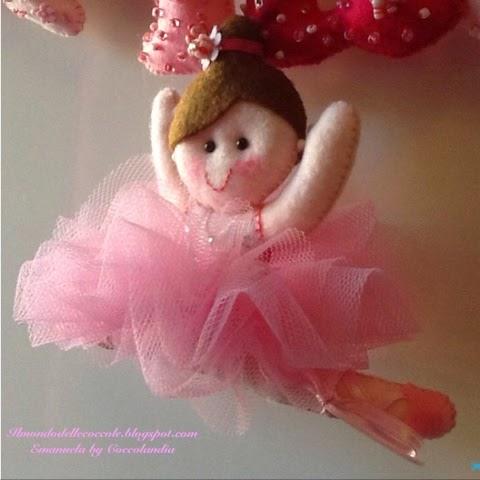 Ballerina ,tutù , tul,feltro, pannolenci .