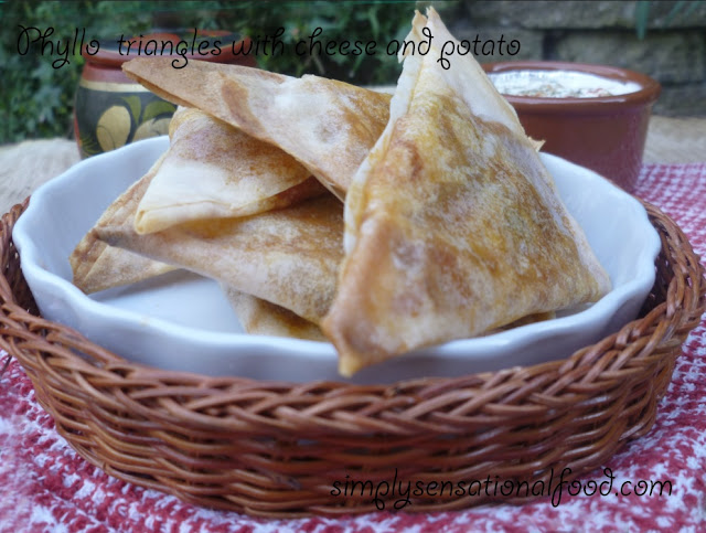 simply.food: Greek Phyllo triangles with cheese and potato