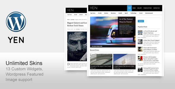 YEN - Magazine Wordpress Theme Free Download by ThemeForest.