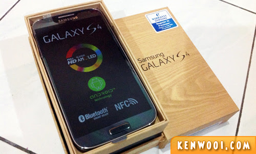 samsung galaxy s4 box