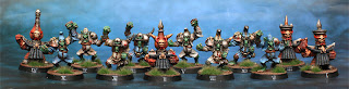 A Chaos Dwarf Blood Bowl team