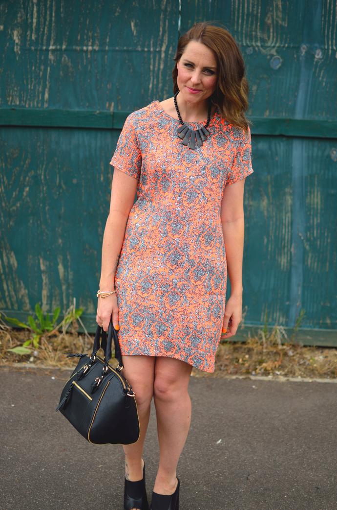 orange-shift-dress