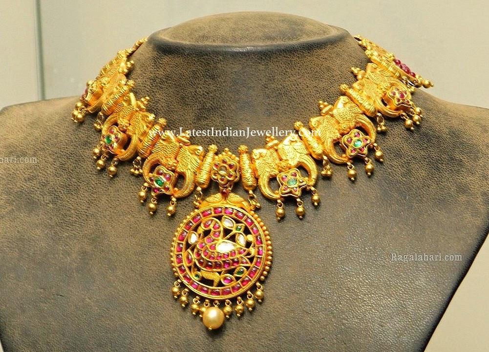 Parrot Design Antique Gold Necklace