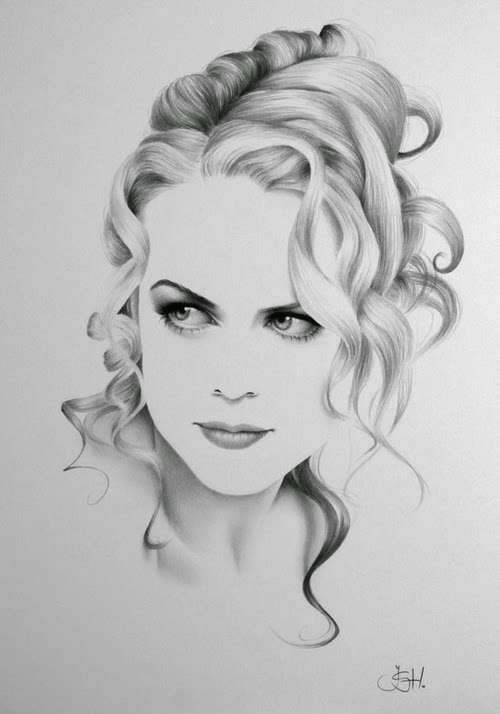 12-Nicole-Kidman-Ileana-Hunter-Recognise-Portrait-Drawings-Detail-www-designstack-co