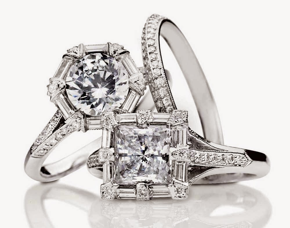 Vintage Womens Diamond Wedding Rings Tacori Model Images