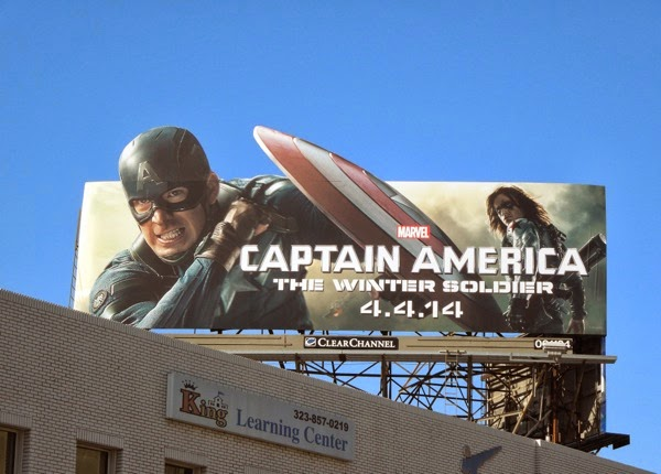 Captain America The Winter Soldier film billboard