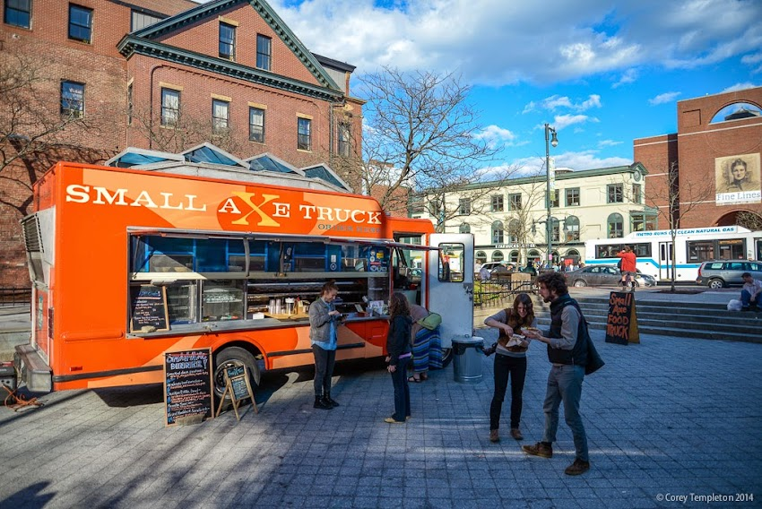 Small Axe Food Truck in Congress Square Portland, Maine Dining May 2014 Photo by Corey Templeton