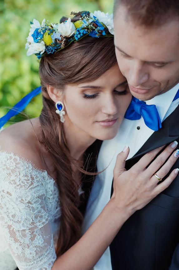 chabrowe kolczyki ślubne