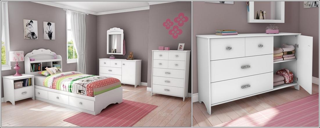 Mod les de meubles blancs pour les chambres d 39 enfants d cor de maison - Meuble chambre blanc ...