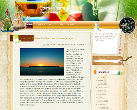 Eternal Truth Blogger Theme
