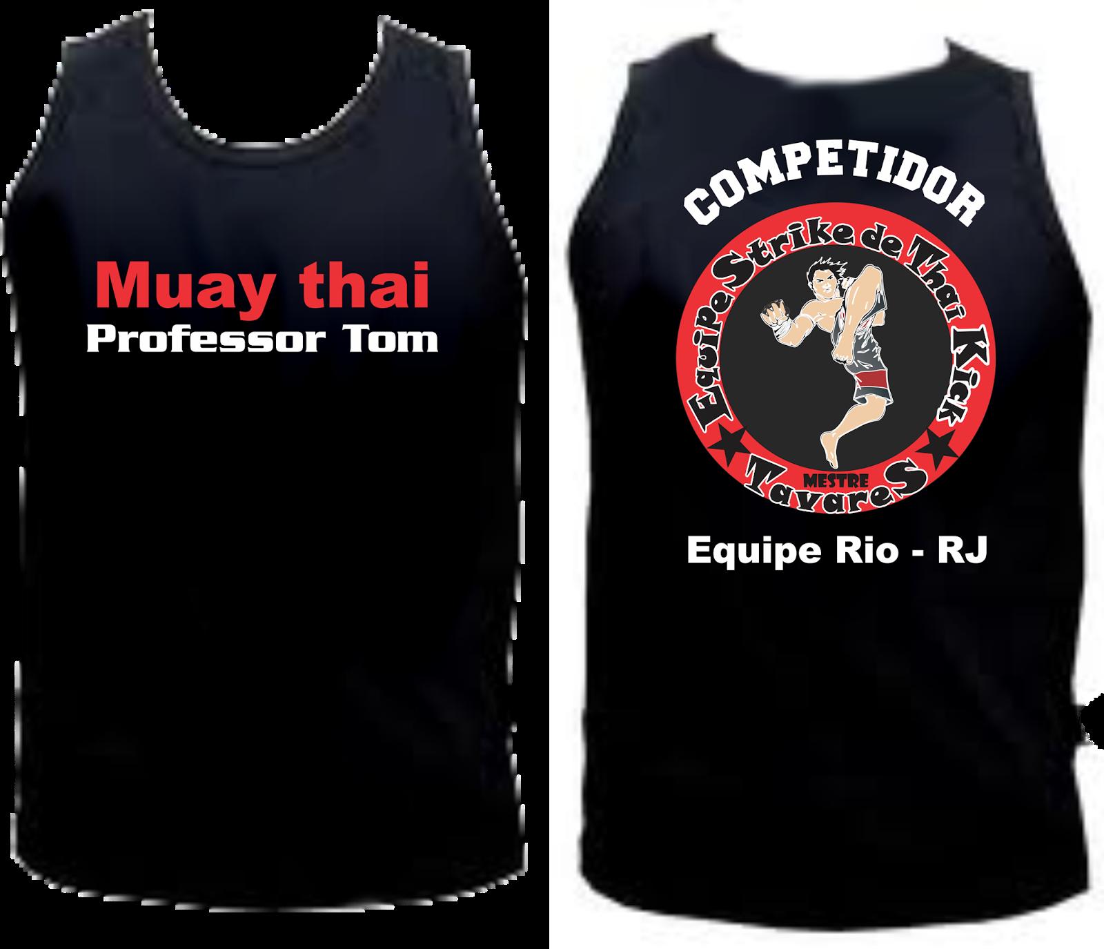 camiseta preta com estampa da logo de uma equipe de luta