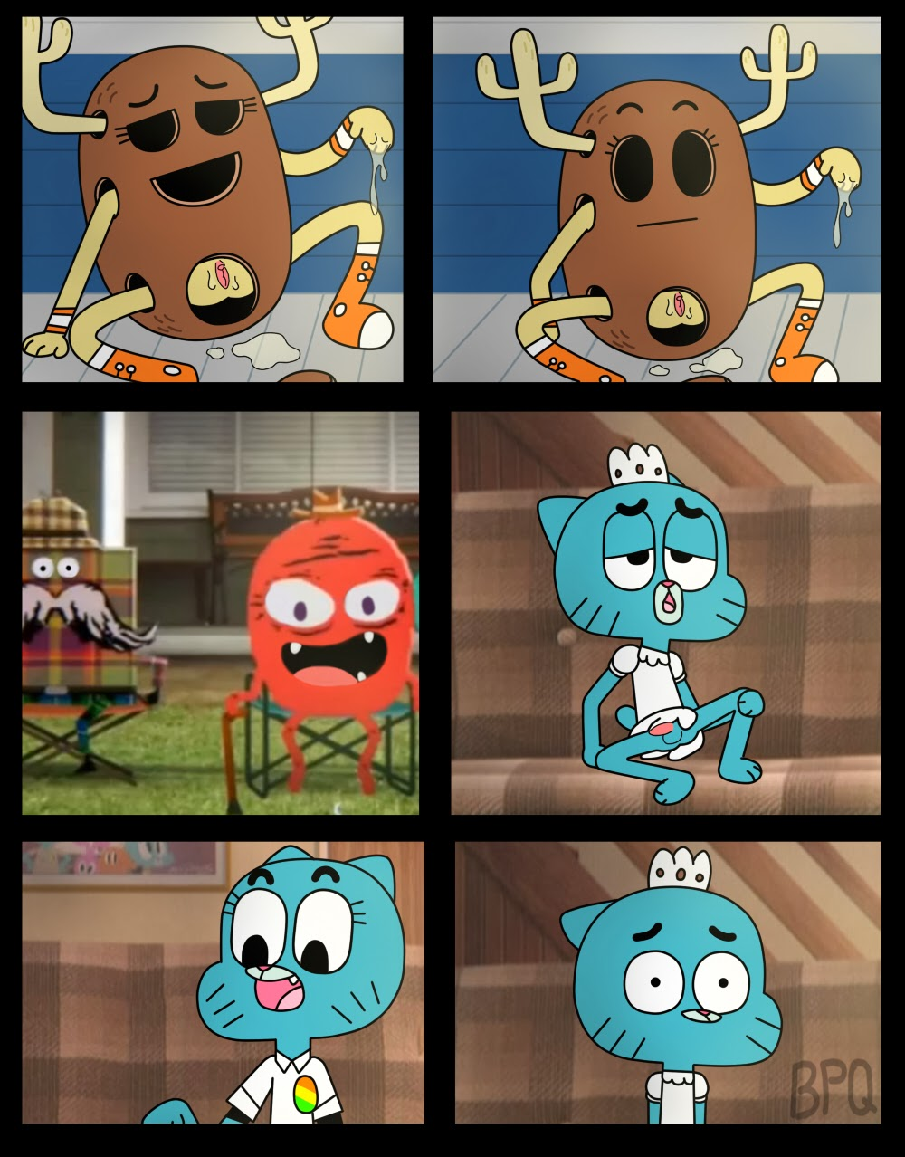 Amazing world of gumball porn comic her wet