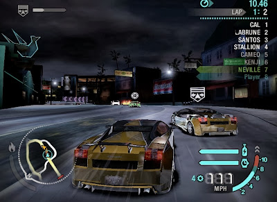 great car racing game nfs carbon gameplay screenshot